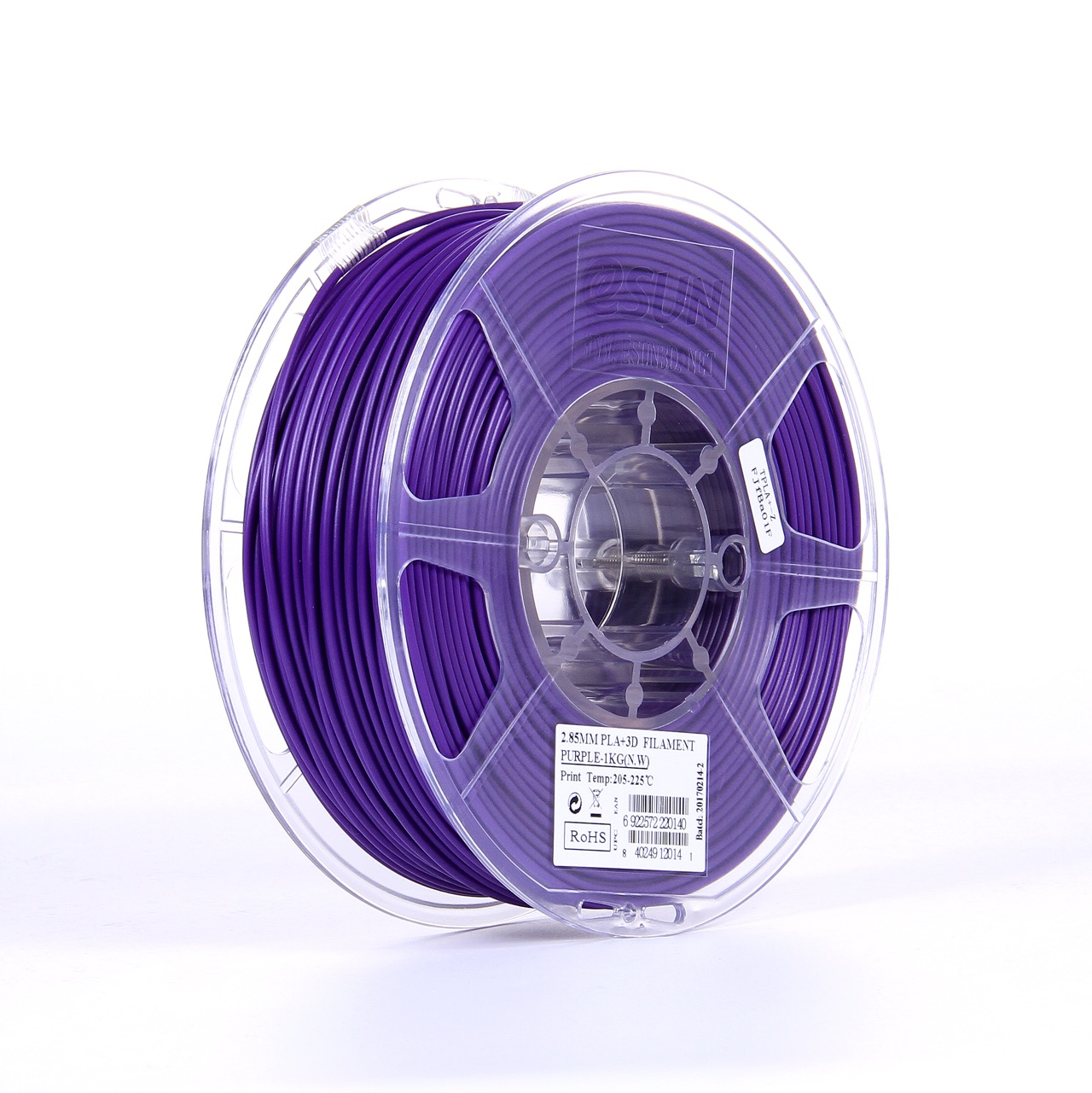PLA filament, 2.85mm (3.0mm Compatible), Purple, 1kg/spool