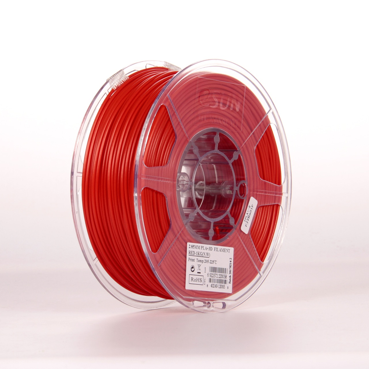 PLA filament, 2.85mm (3.0mm Compatible), Red, 1kg/spool