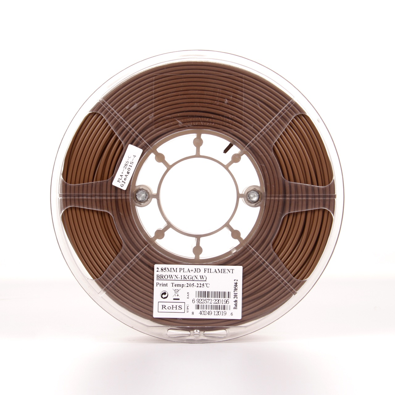 PLA filament, 2.85mm (3.0mm Compatible), Brown, 1kg/spool - MK-PLA300BR