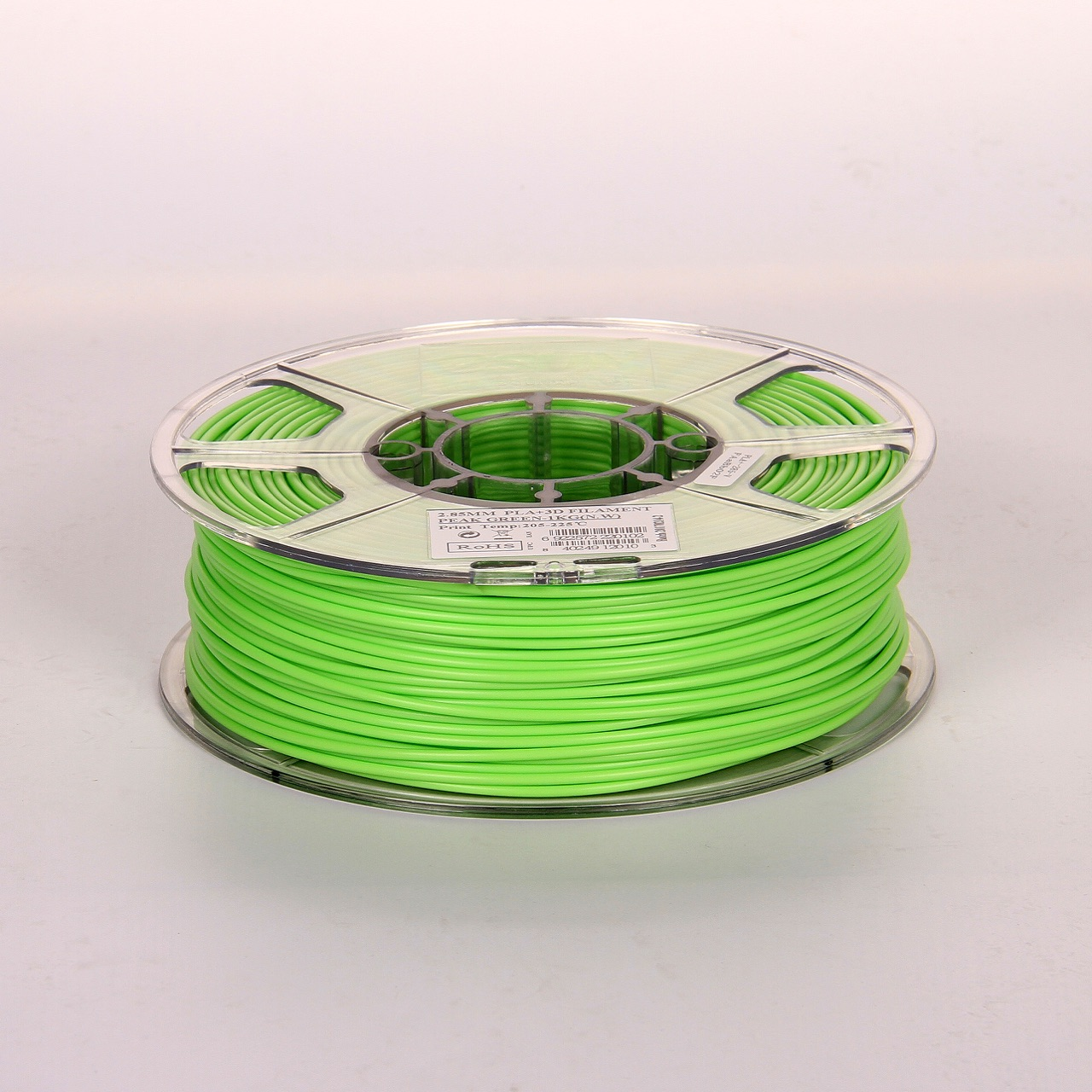 PLA filament, 3.0mm, Transparent Grass Green, 1kg/spool - MK-PLA300TGG