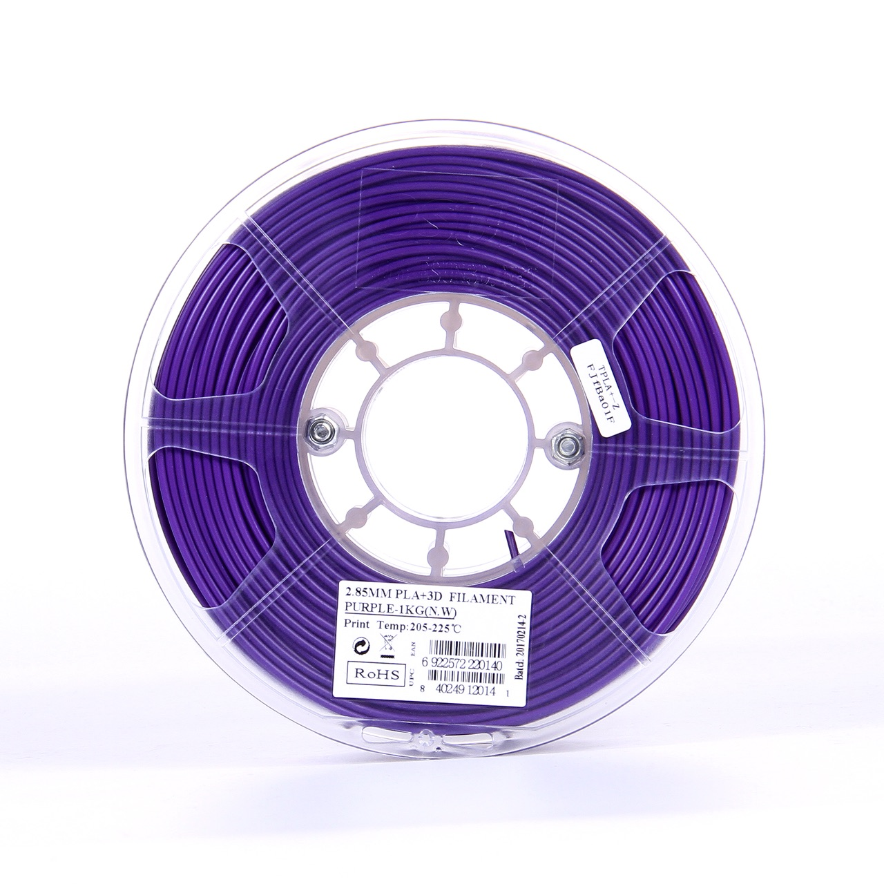 PLA filament, 2.85mm (3.0mm Compatible), Purple, 1kg/spool - MK-PLA300PU