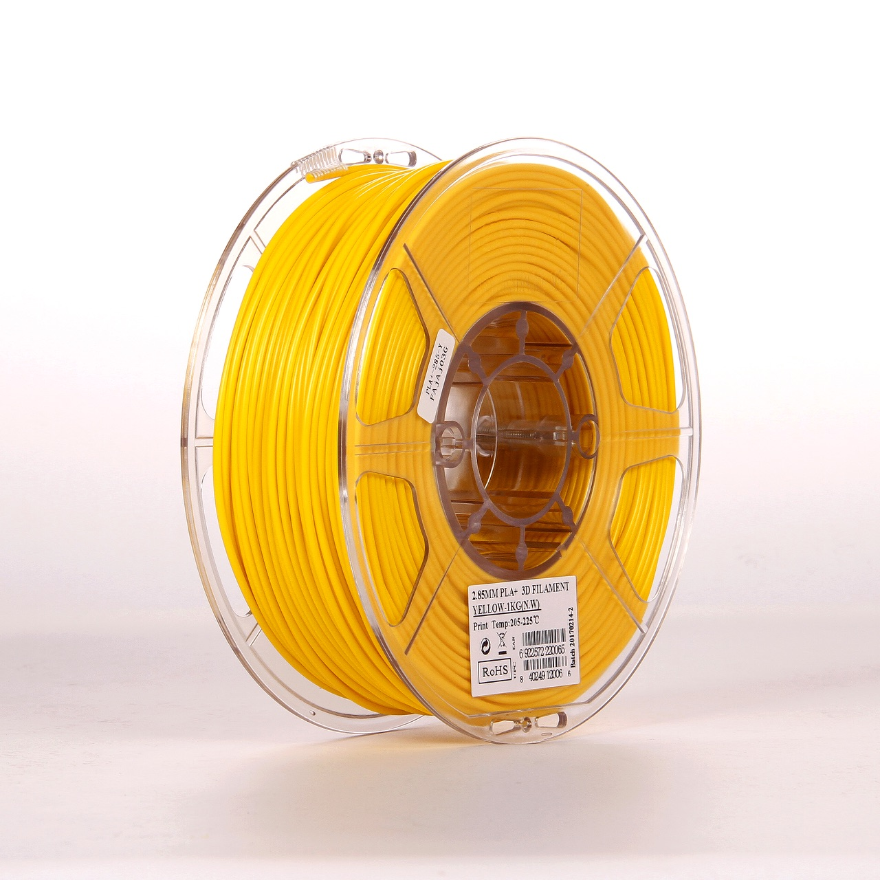 PLA filament, 2.85mm (3.0mm Compatible), Yellow, 1kg/spool