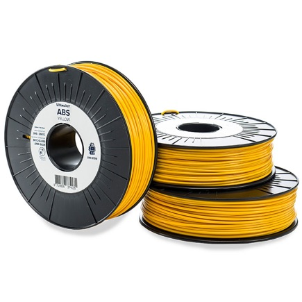 Ultimaker ABS 2.85mm, Yellow 750g spool