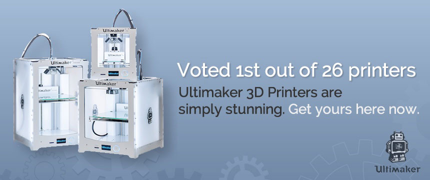 Ultimaker 3d Printer - voted 1st out of 26 world class printers. Get yours from MindKits today and get 20% off your filament