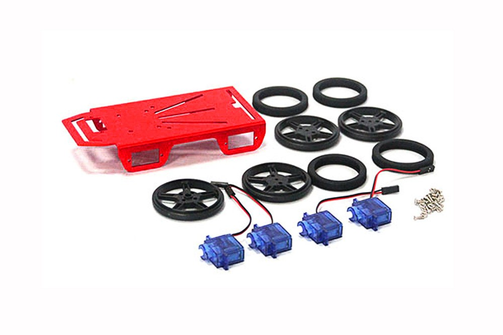4WD Mini Robot Mobile Platform Kit FT-MC-003-KIT