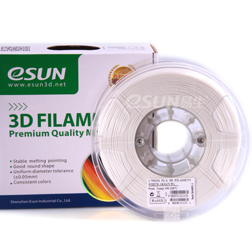 PLA filament, 1.75mm, White, 1kg/spool