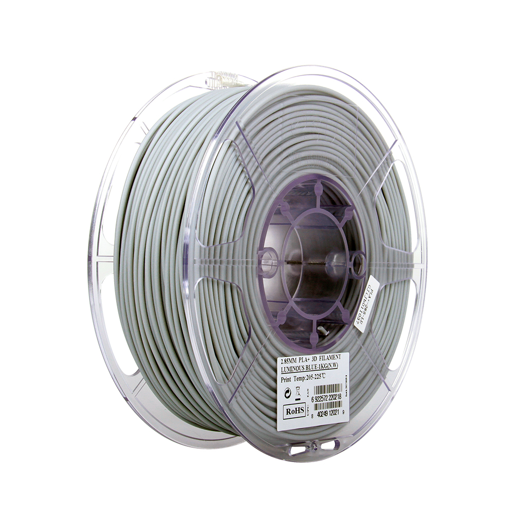 PLA filament, 2.85mm (3.0mm Compatible), Luminous Blue, 1kg/spool