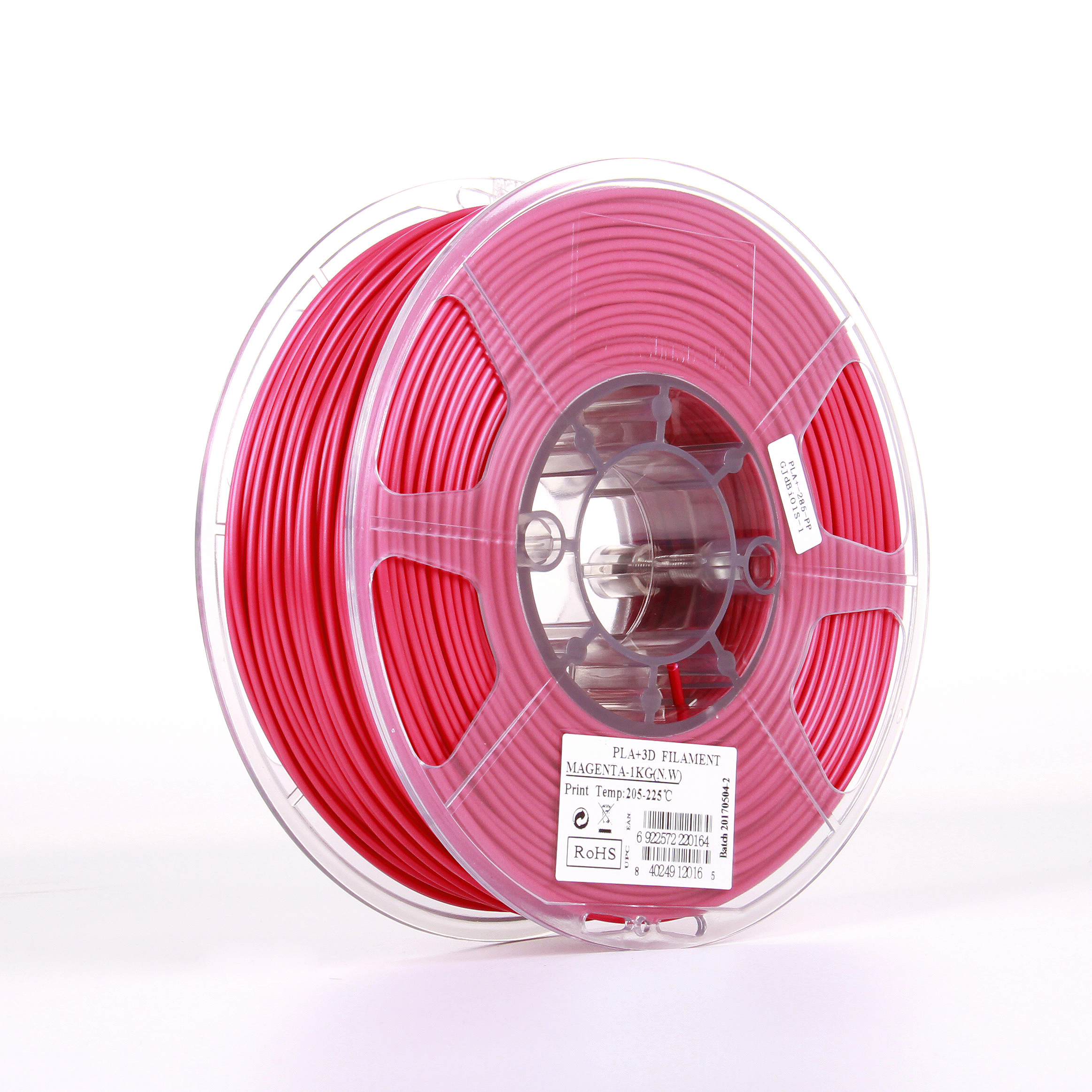 PLA filament, 2.85mm (3.0mm Compatible), Magenta, 1kg/spool