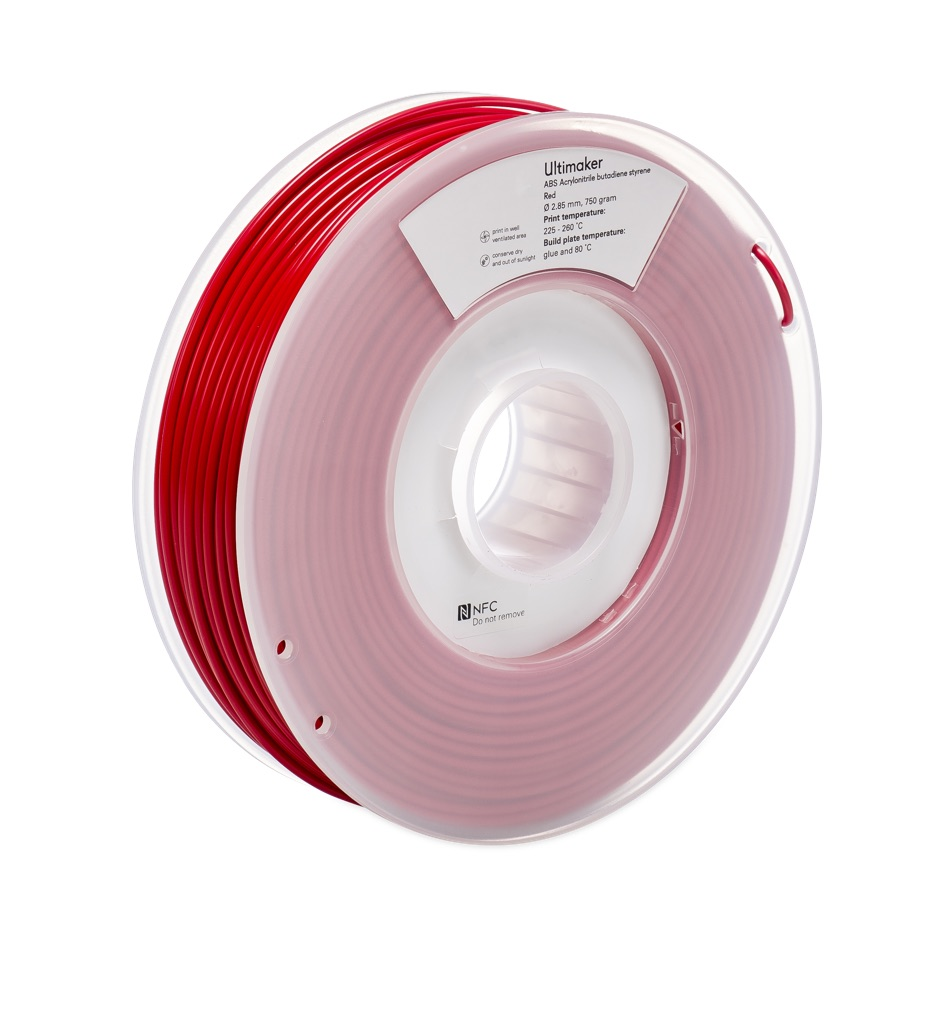 Ultimaker ABS Red 750g Spool - UM-1623