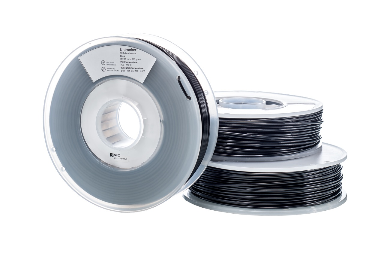 Ultimaker PCA Black 750g Spool - 2.85mm (3.0mm Compatible)