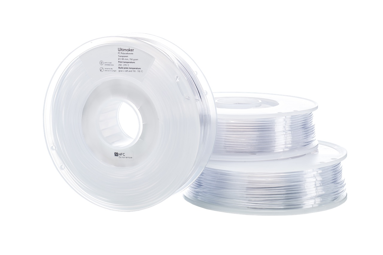 Ultimaker PCA Transparent 750g Spool - 2.85mm (3.0mm Compatible)