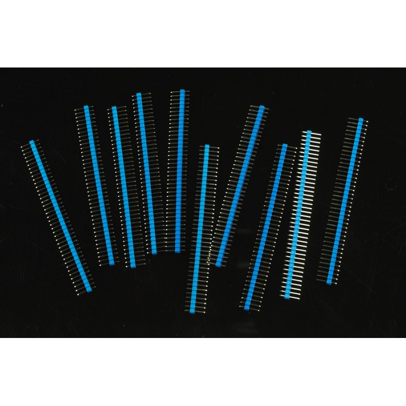 0.1 (2.54 mm) Arduino Male Pin Headers (Straight Blue 10pcs)