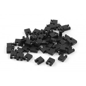 2.54mm Standard Computer/Circuit Board Shunts Short  Jumper Caps (100pcs Pack)