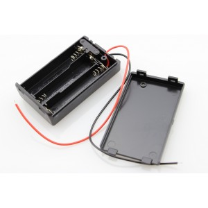 Battery Holder with Switch - 3 x AAA