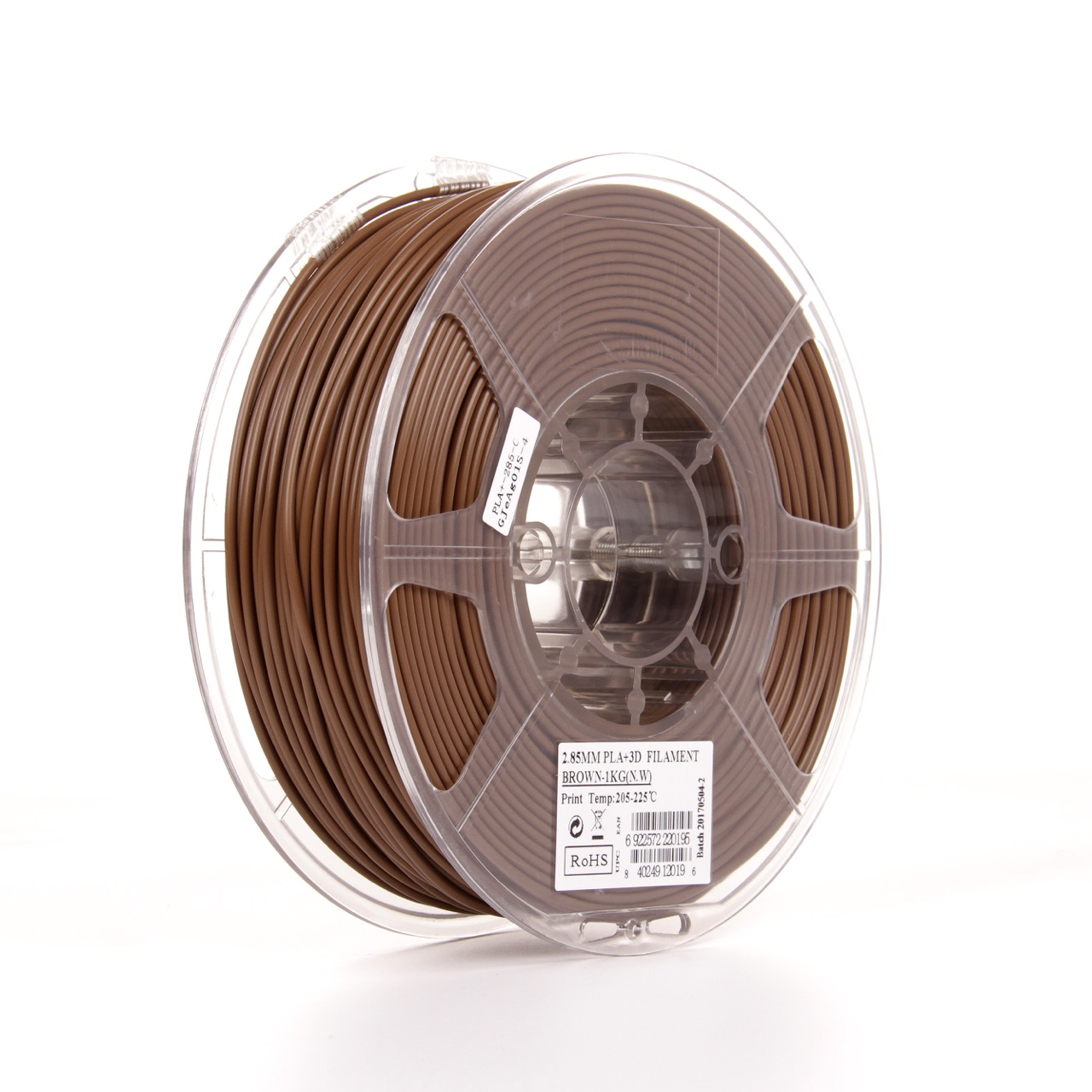 PLA filament, 2.85mm (3.0mm Compatible), Brown, 1kg/spool