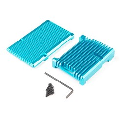 Aluminum Heatsink Case for Raspberry Pi 4 - Blue