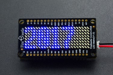 FireBeetle Covers-24x8 LED Matrix (Blue)