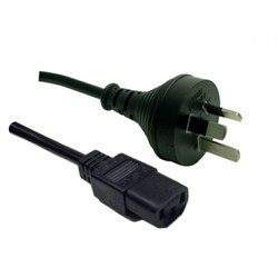 1M 3 Pin Plug to IEC Female Plug 10A